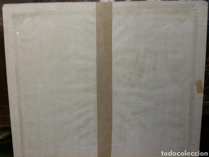 Arte: MAPA REINO DE PORTUGAL 1740 - 1760 CON LAS DIVISIONES INTERNAS REINOS ALGARVE Y BRASIL ED. SEUTTER - Foto 6 - 88153895