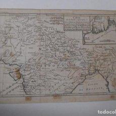 Arte: MAPA PARTE SUPERIOR DE LA INDIA - 1778 - 35 X 24 CM - GRABADO ANTIGUO - M. BONNE. Lote 89257064