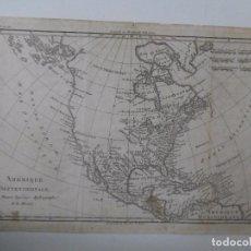 Arte: MAPA AMÉRICA SEPTENTRIONAL - 1778 - 35 X 24 CM - GRABADO ANTIGUO - M. BONNE. Lote 89257264
