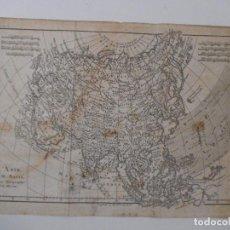 Arte: MAPA DE ASIA - 1778 - 35 X 24 CM - GRABADO ANTIGUO - M. BONNE. Lote 89257540