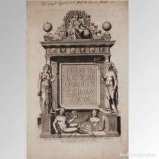 Arte: THEATRUM ORBIS TERRARUM (FRONTIS) - ABRAHAM ORTELIUS. Lote 89332102