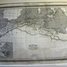 Arte: ANTIGUO MAPA DE AFRICA NUMIDIA Y MAURITANIA DE GASPAR Y ROIG EDITORES 34X25CM. Lote 89584184