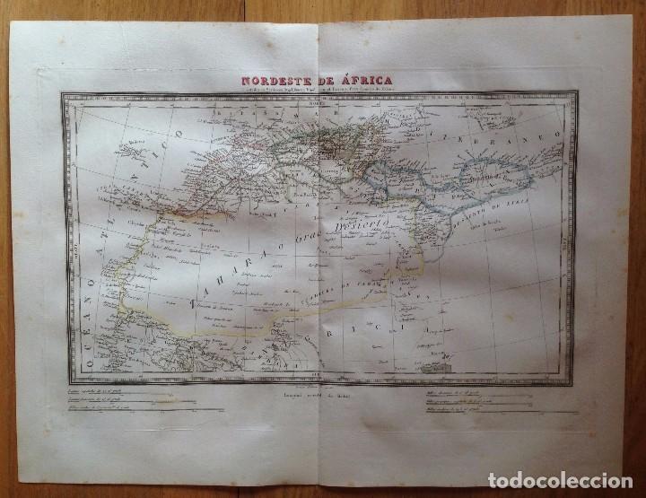 MAPA NORDESTE DE ÁFRICA TARDIEU, ALABERN. IMPRESO EN 1835. (Arte - Cartografía Antigua (hasta S. XIX))