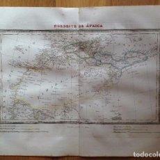 Arte: MAPA NORDESTE DE ÁFRICA TARDIEU, ALABERN. IMPRESO EN 1835.. Lote 89717728