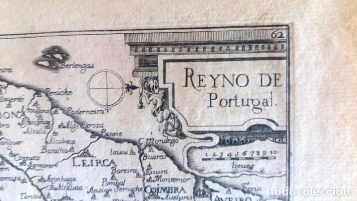 Arte: Mapa antiguo Portugal año 1640 con certificado autenticidad. Mapas antiguos Portugal - Foto 2 - 90406024