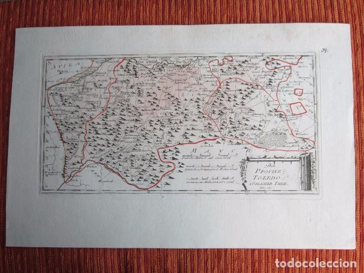 1789-MAPA TOLEDO.QUINTANAR LILLO MADRIDEJOS CONSUEGRA CUERVA ORGAZ NUEZ YEBENES TOTANES CORRAL QUERO (Arte - Cartografía Antigua (hasta S. XIX))