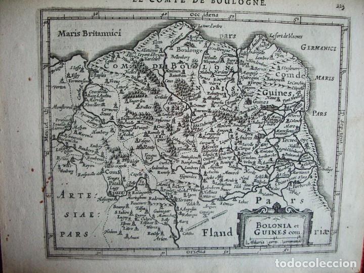 Arte: 1630-MAPA BOULOGNE.BOLONIA ET GUINES.FRANCIA. MERCATOR.JANSSONIUS. AMSTERDAM.ORIGINAL - Foto 2 - 90823805