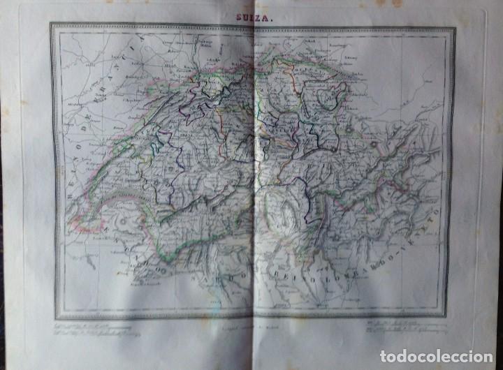 MAPA SUIZA. TARDIEU. (Arte - Cartografía Antigua (hasta S. XIX))