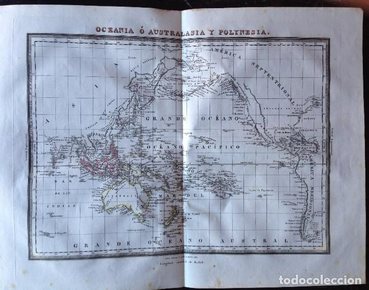 MAPA OCEANIA O AUSTRALASIA Y POLINESIA PABLO ALABERN (Arte - Cartografía Antigua (hasta S. XIX))