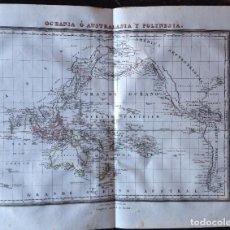 Arte: MAPA OCEANIA O AUSTRALASIA Y POLINESIA PABLO ALABERN. Lote 90955660