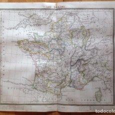 Arte: MAPA LAS GALIAS TARDIEU, ALAMBERN. IMPRESO EN BARCELONA. Lote 90956545