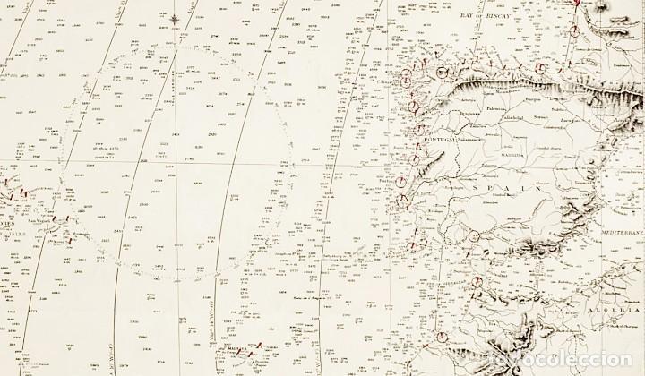 Arte: 1870 - Atlántico - Carta náutica ideal para Hotel, Bar, Restaurante de Costa o Temática Marítima - Foto 2 - 90988665