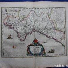 Arte: ANTIGUO MAPA DEL REINO DE VALENCIA: VALENTIA REGNUM, BLAEU C. 1650 (CASTELLÓN, VALENCIA, ALICANTE). Lote 139317245