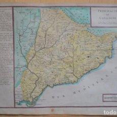 Arte: MAPA DE CATALUÑA (ESPAÑA), 1705. NICOLÁS DE FER. Lote 93310545
