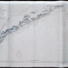 Arte: DESDE EL RIO LLOBREGAT HASTA EL CABO DE TOSSA. MAR MEDITERRÁNEO. CARTA NÁUTICA. . Lote 93576130
