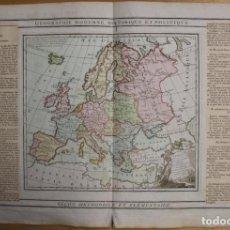 Arte: MAPA DE EUROPA, 1790. BRION DE LA TOUR/ DESNOS. Lote 93778110