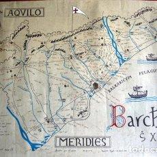 Arte: BARCELONA S. XI - LITOGRAFIA MINIADA - BARC[IN]A S. XI - 69,5X50CM - ANTONIO NOVELL BOFARULL. Lote 94030645