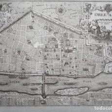 Arte: PLANO DE LA CIUDAD DE ORLEANS (FRANCIA), 1720. BODENEHR. Lote 94386286