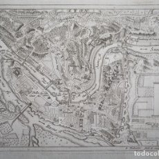 Arte: PLANO DE LA CIUDAD DE LYON (FRANCIA), 1720. BODENEHR. Lote 94386414