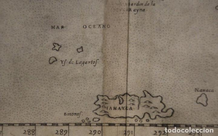 Arte: Mapa de la isla de Cuba ( Ámerica )1574. Ptolomeo / Ruscelli - Foto 7 - 94386986