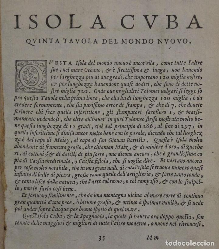 Arte: Mapa de la isla de Cuba ( Ámerica )1574. Ptolomeo / Ruscelli - Foto 9 - 94386986