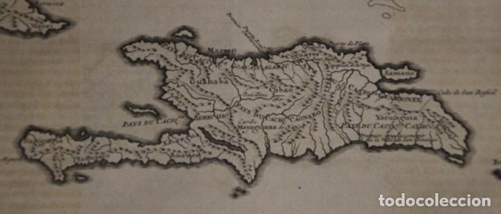 Arte: Mapa de la isla de Santo Domingo (Haití-Santo Domingo, Ámerica), 1731. Anville/Leparmentier/Didot - Foto 3 - 94387158