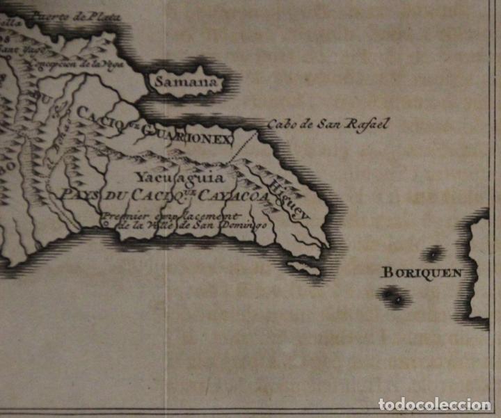 Arte: Mapa de la isla de Santo Domingo (Haití-Santo Domingo, Ámerica), 1731. Anville/Leparmentier/Didot - Foto 6 - 94387158