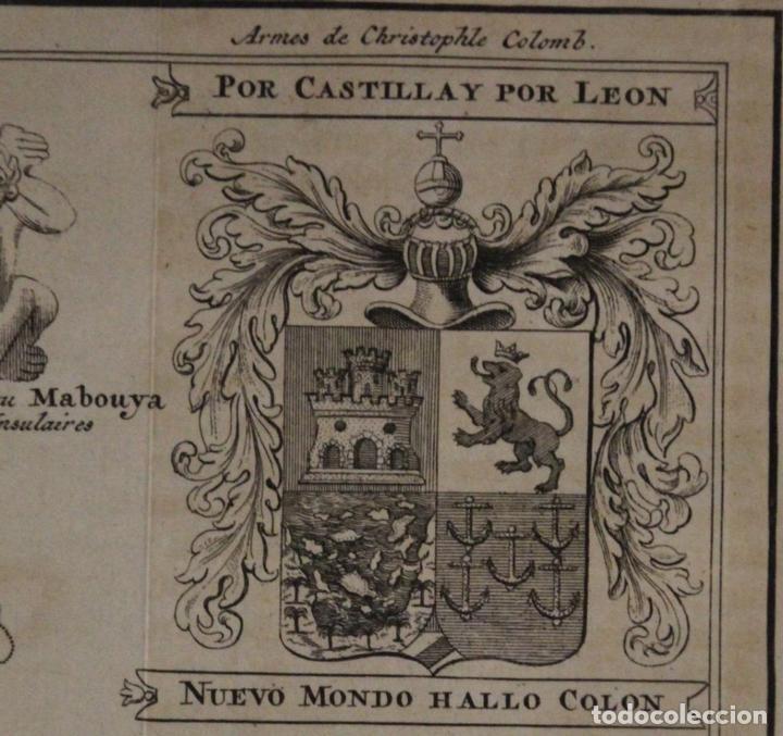 Arte: Mapa de la isla de Santo Domingo (Haití-Santo Domingo, Ámerica), 1731. Anville/Leparmentier/Didot - Foto 8 - 94387158