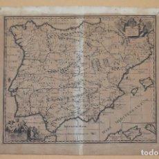 Arte: MAGNÍFICO Y ANTIGUO MAPA DE ESPAÑA. S. XVII, GRABADO ORIGINAL, 35 X 30 CM.. Lote 94511190