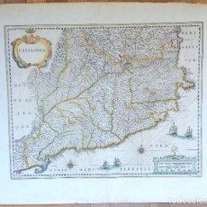 Arte: MAPA ANTIGUO DE CATALUÑA DE 1638 JANSONIUS/HONDIUS CON CERTIF. AUTENTIC. MAPAS ANTIGUOS CATALUÑA. Lote 147326914