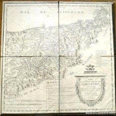 Arte: MAPA ANTIGUO GUIPÚZCOA AÑO 1770 CON CERTIFICADO DE AUTENTICIDAD . MAPAS ANTIGUOS PAÍS VASCO. Lote 52586280