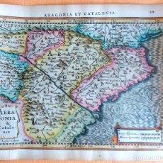Arte: MAPA ANTIGUO CATALUÑA Y ARAGÓN CON CERTIF. AUTENT. AÑO 1632 . MAPAS ANTIGUOS ARAGÓN Y CATALUÑA. Lote 69011337