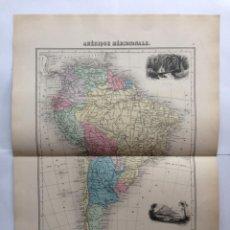 Arte: MAPA DE AMÉRICA DEL SUR, 1882. MIGEON. Lote 94728635