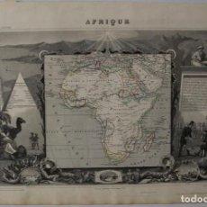 Arte: MAPA DE ÁFRICA, 1851. LEVASSEUR. Lote 94753903