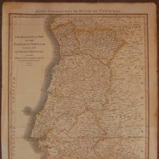 Arte: GRAN MAPA DE PORTUGAL, 1797. WILLIAM FADEN. Lote 94823371