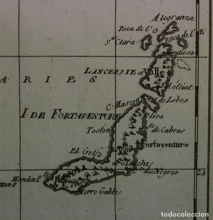 Arte: Mapa de las Islas Canarias (España), A Madeira e Porto Santo (Portugal), 1780. Bonne /Raynal - Foto 5 - 94873791