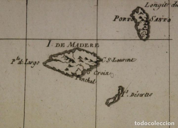 Arte: Mapa de las Islas Canarias (España), A Madeira e Porto Santo (Portugal), 1780. Bonne /Raynal - Foto 6 - 94873791