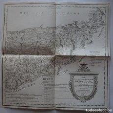 Arte: MAPA DE GUIPUZCOA (ESPAÑA), 1770. TOMÁS LÓPEZ. Lote 95157735