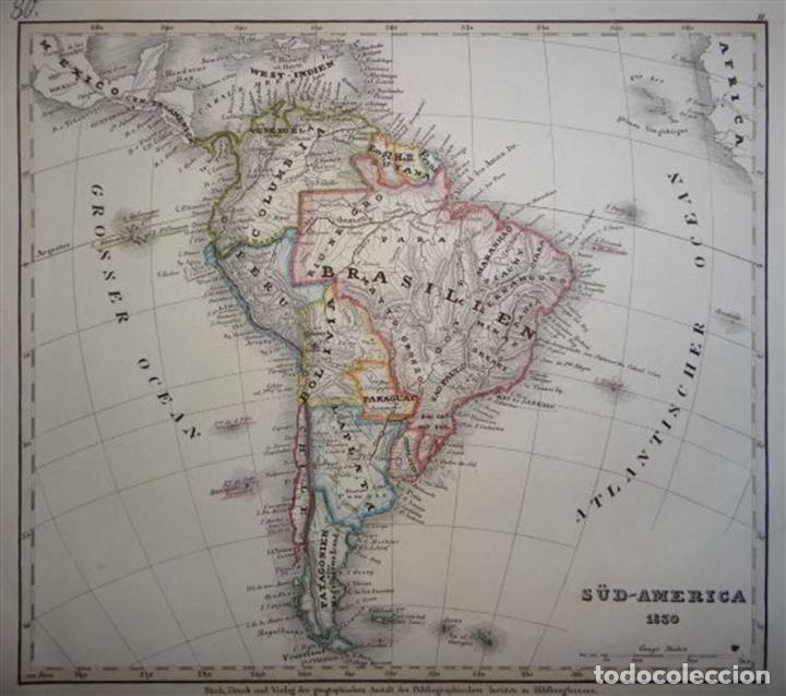 mapa de américa del sur, 1830. anónimo - Comprar Cartografía Antigua ...