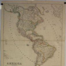 Arte: GRAN MAPA DE AMÉRICA, 1857. KIEPER. Lote 95276855