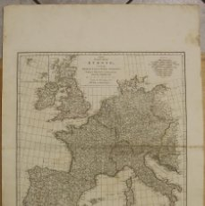 Arte: GRAN MAPA DE EUROPA OCCIDENTAL, 1788. ANVILLE/HARRISON. Lote 95277855