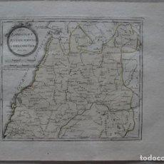 Arte: MAPA DEL CENTRO-NORTE LITORAL DE PORTUGAL, 1795. REILLY. Lote 95850247