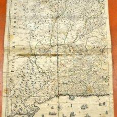 Arte: ANTIGUO MAPA DE CATALUÑA (VEGUERIAS) DEL SIGLO XVIII CON DEMARCACIONES ILUMINADAS A MANO. Lote 95999283