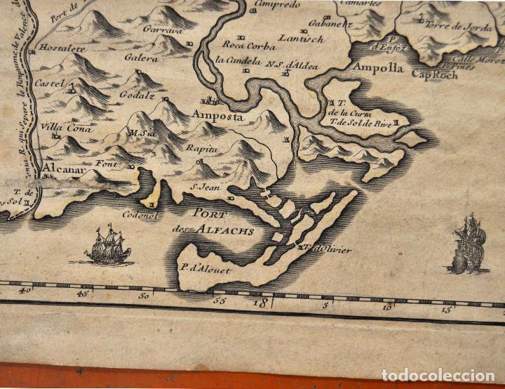 Arte: ANTIGUO MAPA DE CATALUÑA (VEGUERIAS) DEL SIGLO XVIII CON DEMARCACIONES ILUMINADAS A MANO - Foto 8 - 95999283