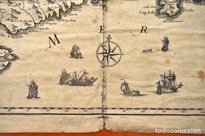 Arte: ANTIGUO MAPA DE CATALUÑA (VEGUERIAS) DEL SIGLO XVIII CON DEMARCACIONES ILUMINADAS A MANO - Foto 10 - 95999283