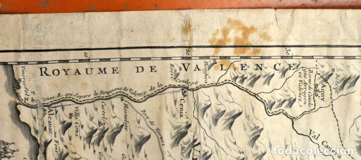 Arte: ANTIGUO MAPA DE CATALUÑA (VEGUERIAS) DEL SIGLO XVIII CON DEMARCACIONES ILUMINADAS A MANO - Foto 11 - 95999283