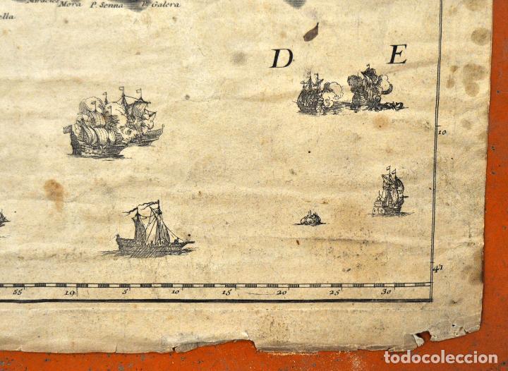 Arte: ANTIGUO MAPA DE CATALUÑA (VEGUERIAS) DEL SIGLO XVIII CON DEMARCACIONES ILUMINADAS A MANO - Foto 12 - 95999283
