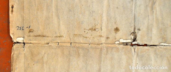 Arte: ANTIGUO MAPA DE CATALUÑA (VEGUERIAS) DEL SIGLO XVIII CON DEMARCACIONES ILUMINADAS A MANO - Foto 13 - 95999283