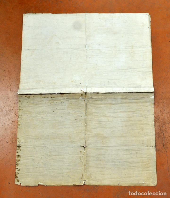 Arte: ANTIGUO MAPA DE CATALUÑA (VEGUERIAS) DEL SIGLO XVIII CON DEMARCACIONES ILUMINADAS A MANO - Foto 14 - 95999283