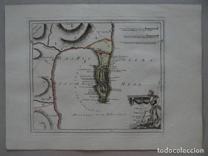 MAPA DE GIBRALTAR ( SUR DE ESPAÑA), 1795. REILLY (Arte - Cartografía Antigua (hasta S. XIX))